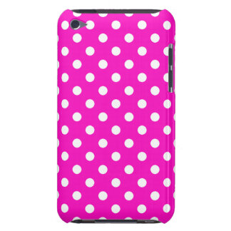 Shocking Pink Polka Dot iPod Touch G4 Case
