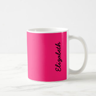 Shocking Pink Solid Color Coffee Mugs