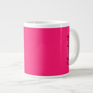 Shocking Pink Solid Color Extra Large Mugs