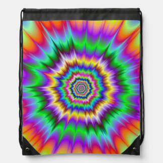 Shockwaves Drawstring Bag