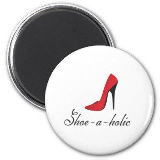 Shoe-a-holic 6 Cm Round Magnet