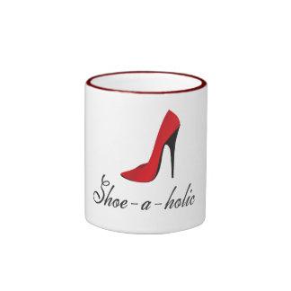 Shoe-a-holic Ringer Mug