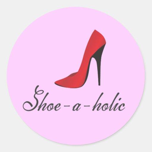 Shoe-a-holic Round Sticker