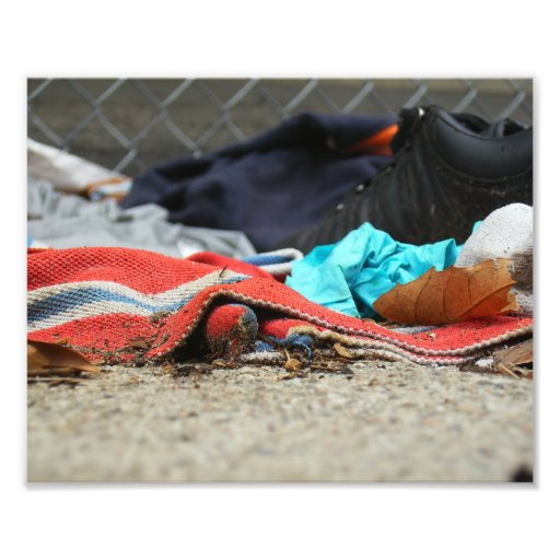 Shoe And Clothing On The Street Photograph