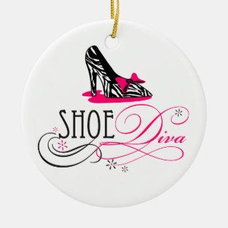 Shoe Diva Zebra Print Ornament