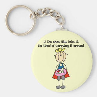 Shoe Fits Prince Tshirts and Gifts Basic Round Button Key Ring