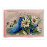 Shoe full of flowers postcards