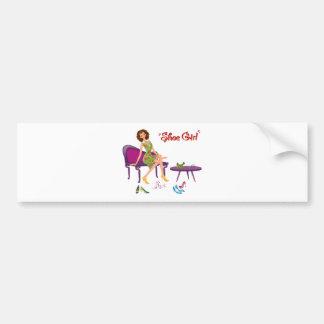 Shoe Girl Fashion Bumper Sticker
