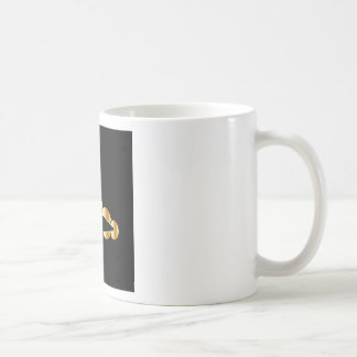 Shoe graphic with golden circles coffee mugs