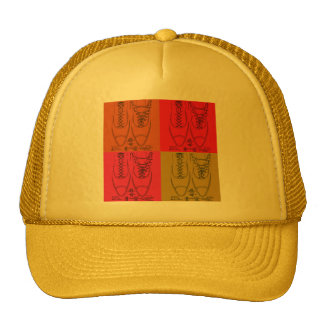 Shoe lacing trucker hat