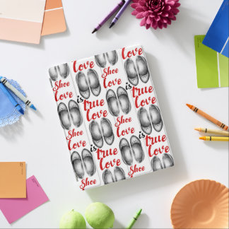 """""""Shoe love is true love"""" red sign iPad Cover"""