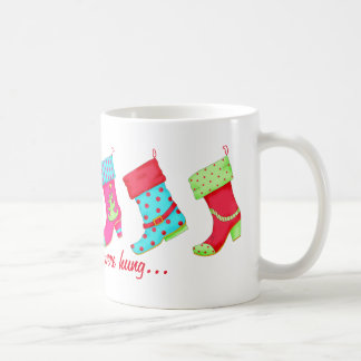 Shoe Lover Modern Boots Christmas Stockings Basic White Mug