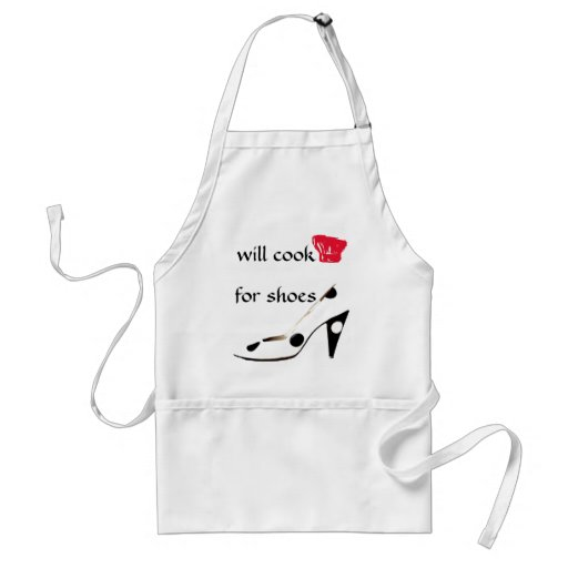 Shoe Lover Will Cook for Shoes Funny Apron