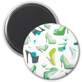 Shoe Monster Vintage Design 6 Cm Round Magnet