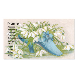Shoe of Snowdrops Victorian Trade Card Business Card