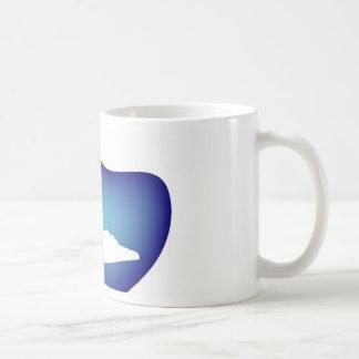 Shoe on blue droplet basic white mug