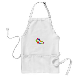 Shoe on colorful circles aprons
