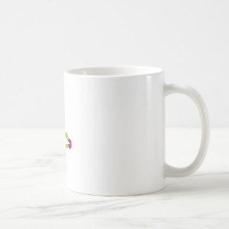 Shoe on colorful circles basic white mug