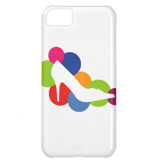 Shoe on colorful circles iPhone 5C covers