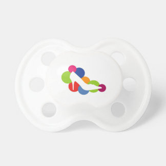 Shoe on colorful circles baby pacifier