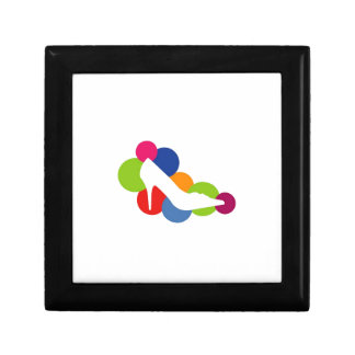 Shoe on colorful circles trinket boxes