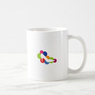 Shoe on colorful circles mug