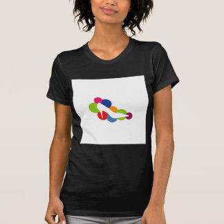 Shoe on colorful circles tee shirts