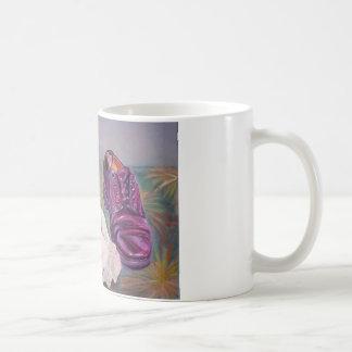 Shoe polish basic white mug