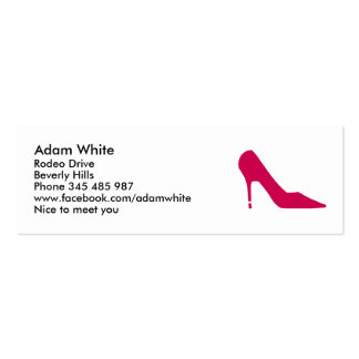 Shoe pumps pack of skinny business cards