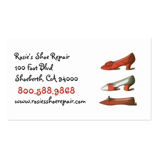 Shoe Repair Business Cards