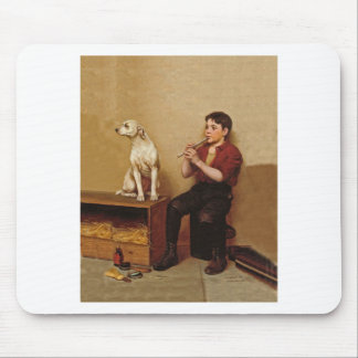 Shoe Shine Boy with Flute and Dog 1907 Mouse Pad