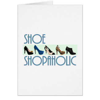 shoe shopaholic greeting cards