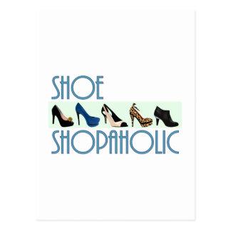 shoe shopaholic postcard