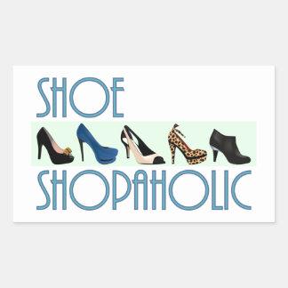 shoe shopaholic rechtecksticker