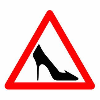 Shoe Warning Sign Standing Photo Sculpture