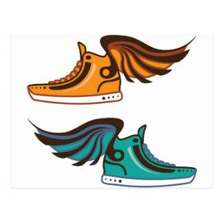 Shoe Wing. Fast. Postcard