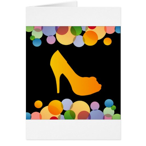 Shoe with colorful circles card