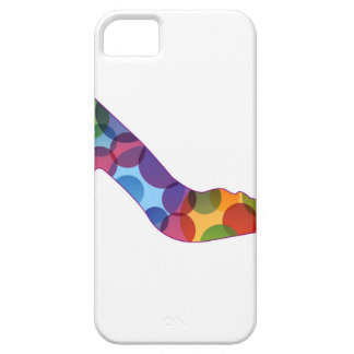 Shoe with colorful circles iPhone 5 case