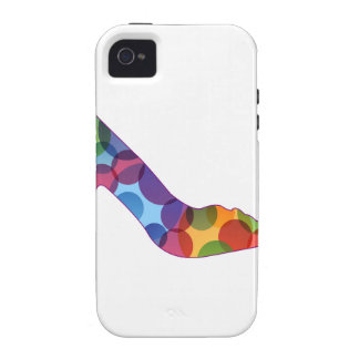 Shoe with colorful circles vibe iPhone 4 cover