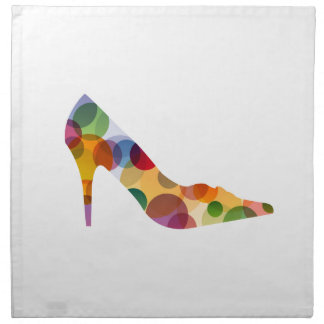 Shoe with colorful circles cloth napkin