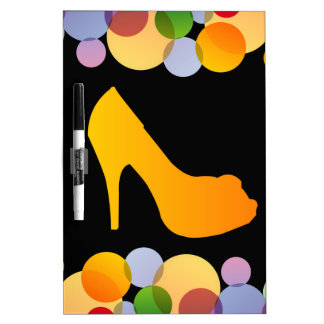 Shoe with colorful circles Dry-Erase boards