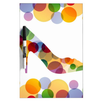 Shoe with colorful circles Dry-Erase whiteboard