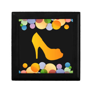 Shoe with colorful circles trinket box