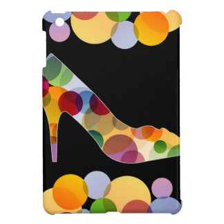 Shoe with colorful circles cover for the iPad mini