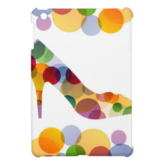 Shoe with colorful circles case for the iPad mini