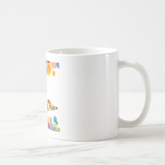 Shoe with colorful circles coffee mugs