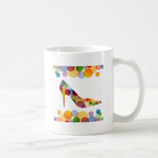 Shoe with colorful circles mugs