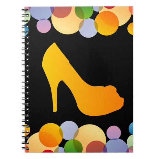 Shoe with colorful circles notebook
