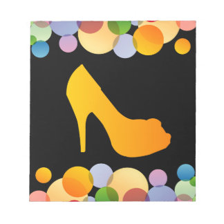 Shoe with colorful circles memo pad
