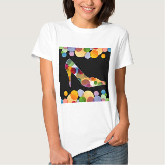 Shoe with colorful circles t-shirts